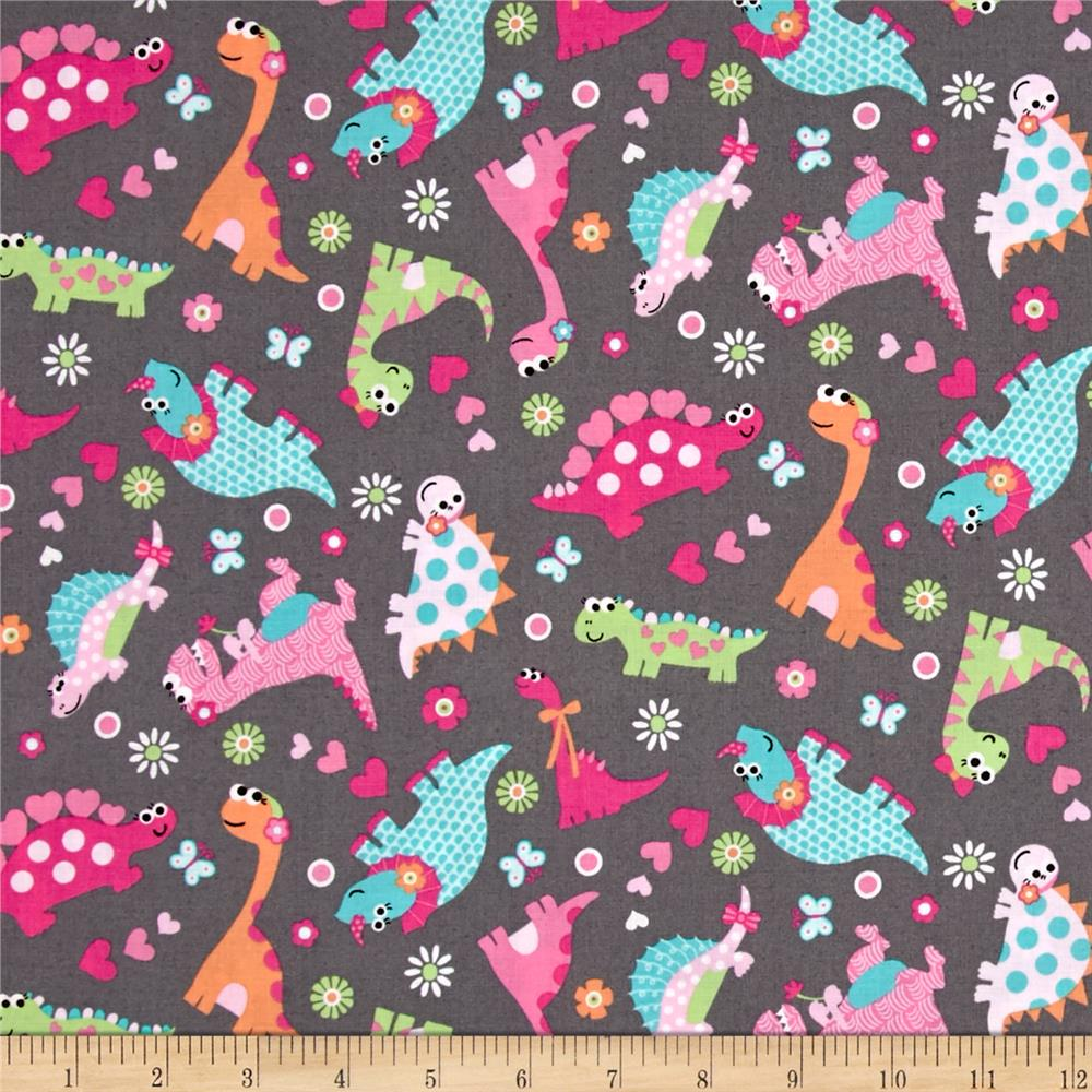 girly o saurus dino collage multi discount designer