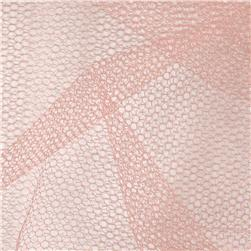 Nylon Netting Peach Fabric
