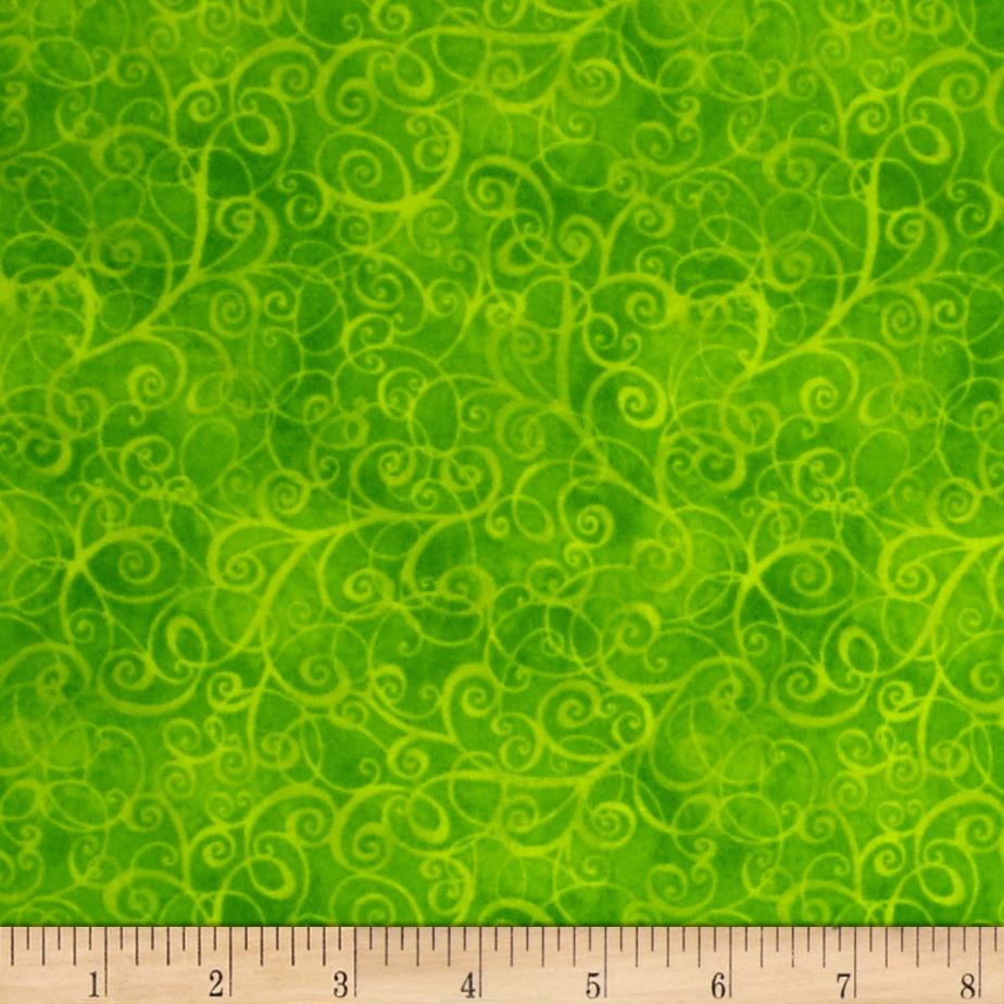 Timeless Treasures Flannel Breeze Lime