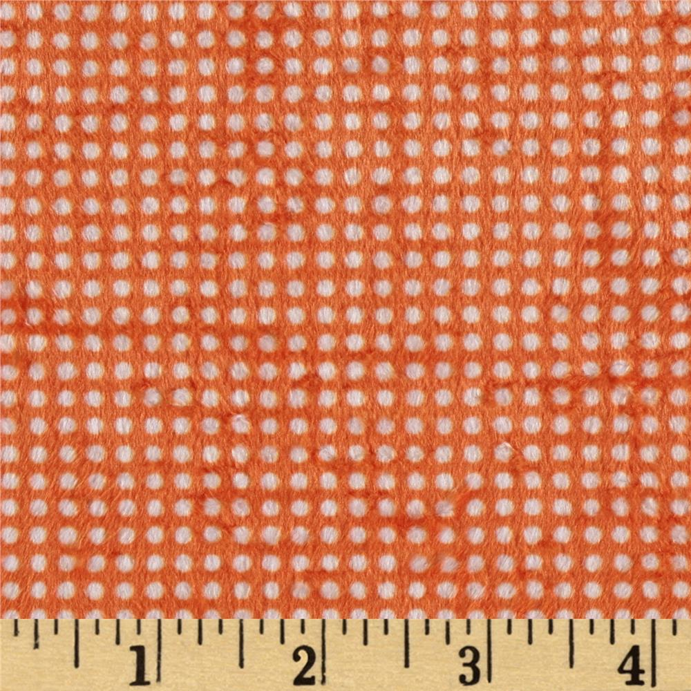 Minky Swiss Dot Orange/White