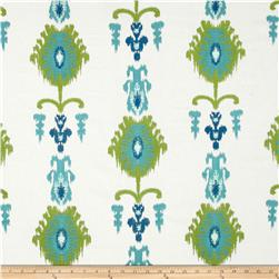 Swavelle/Millcreek Embroidered Statice Ikat Carribbean