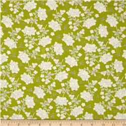 Moda Garden Project Vintage Floral Green Apple Fabric