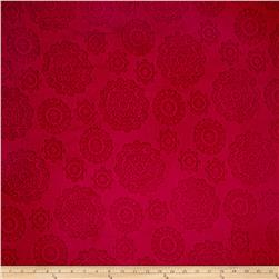 Minky Cuddle Majestic Embossed Mirage Crimson