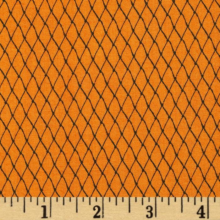 Loralie Church Ladies Diamond Grid Orange