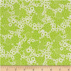 Baby Talk Splash Floral Lime/White