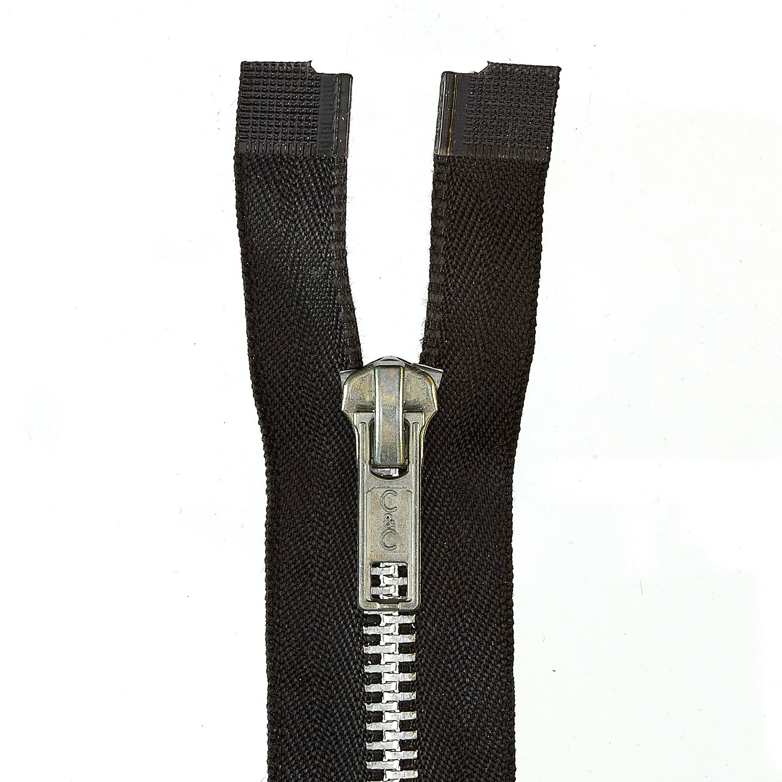Heavy Weight Aluminum Separating Zipper 18'' Black