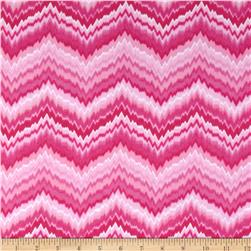 Comfy Flannel Chevron Pink/White Fabric