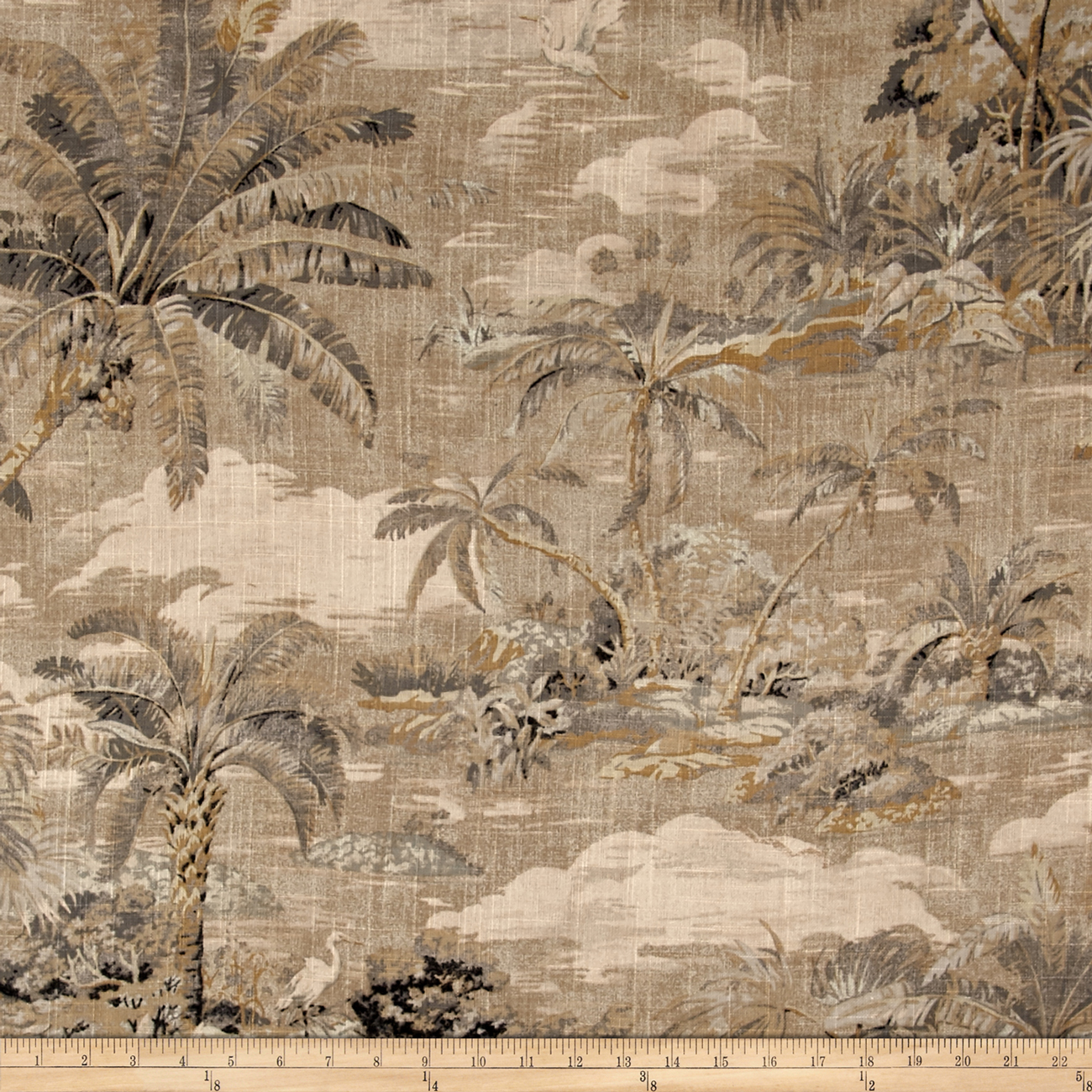 Tommy Bahama Home Dec Scenic Beauty Nutmeg Fabric by Waverly in USA