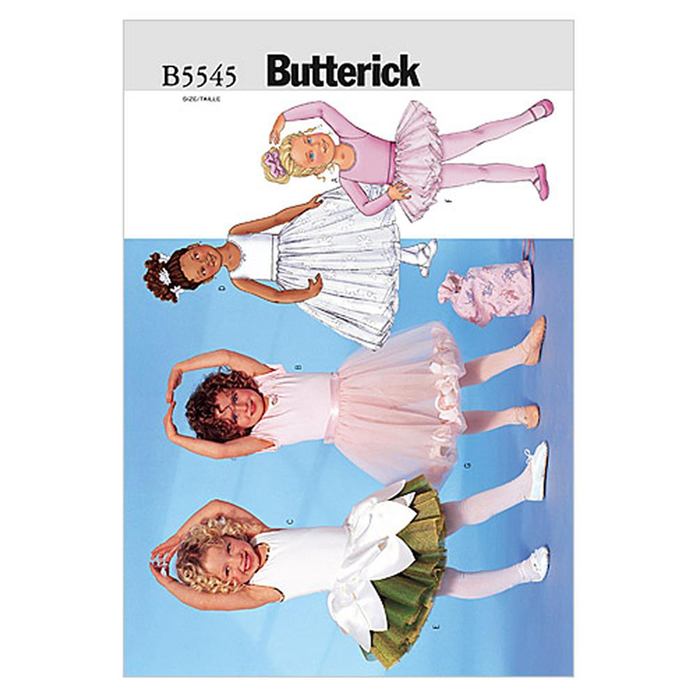 Butterick Children's/Girls' Leotard, Skirt, Bag and Ponytail Holder Pattern B5545 Size 020