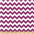 "Riley Blake 58"" Manufactures Cut Small Chevron Purple"