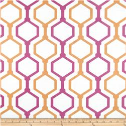 RCA Geometric Sheers Fruit Punch Orange/Pink Fabric