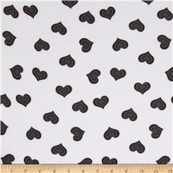 Chiffon Hearts White/Black/Charcoal