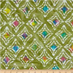 Indian Batik Diamond Green