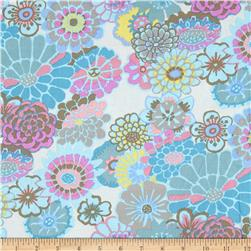 Kaffe Fassett Collective Asian Circles Turquoise Fabric