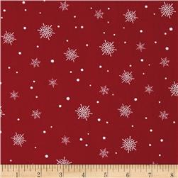 A Christmas To Remember Snowflake Red