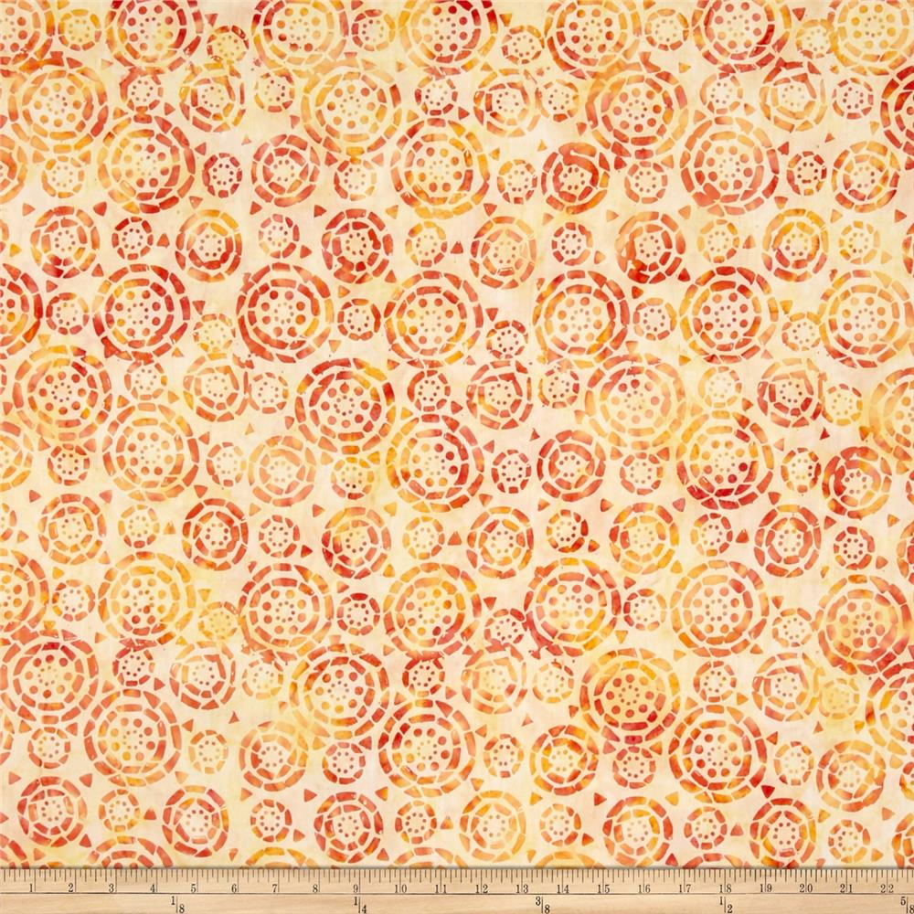 Timeless Treasures Tonga Batik Salsa Buttons Melon