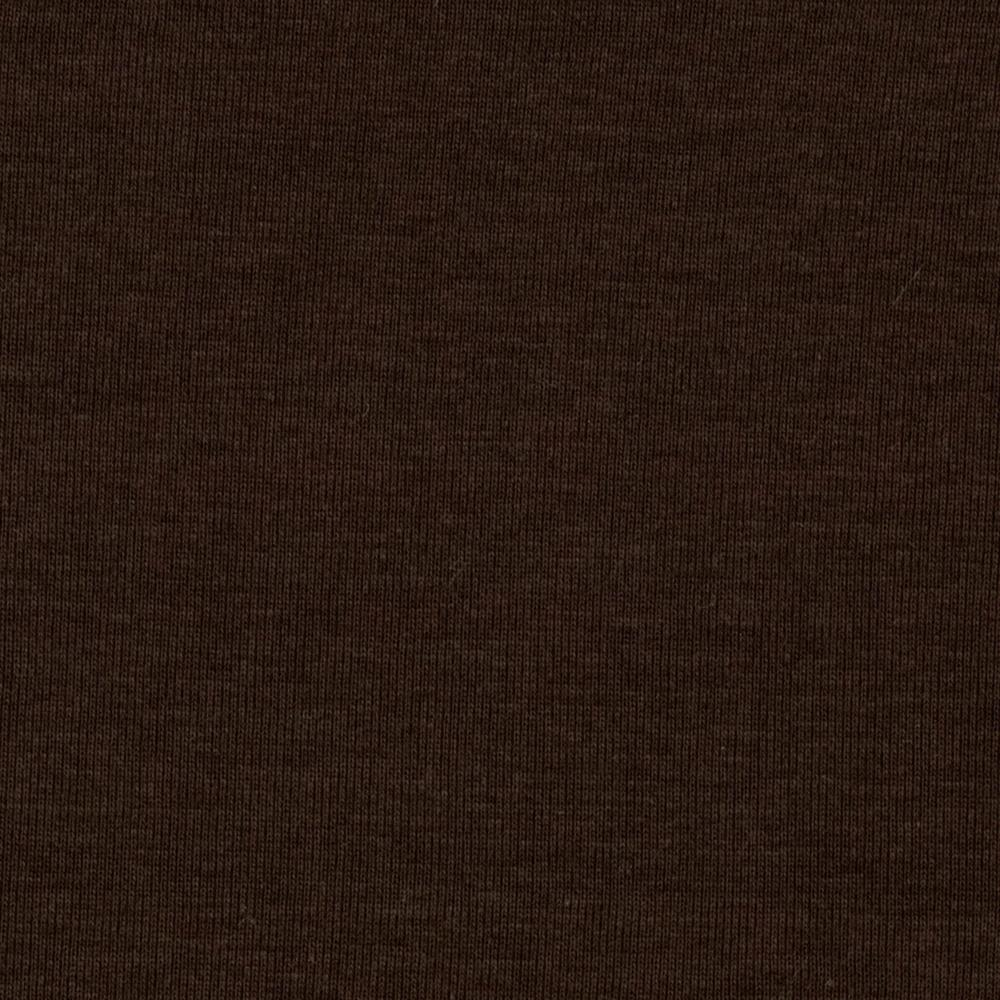 Organic Stretch Cotton Jersey Knit Brown