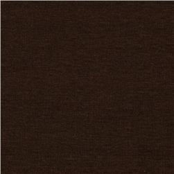 Organic Stretch Cotton Jersey Knit Brown Fabric
