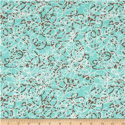 Linen/Cotton Blend Folly Tangle Tidal Pool
