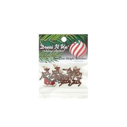 Dress It Up Embellishment Sew Cute Sleigh/Reindeer