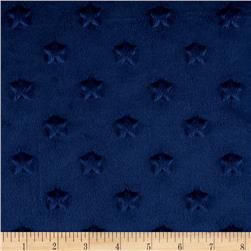 Minky Star Dot Navy