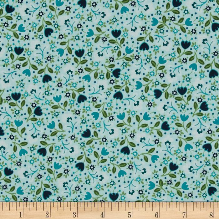 Bonita Small Flowers Light Blue