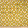 Bella Dura Eco-Friendly Indoor/Outdoor Scallop Jacquard Yellow