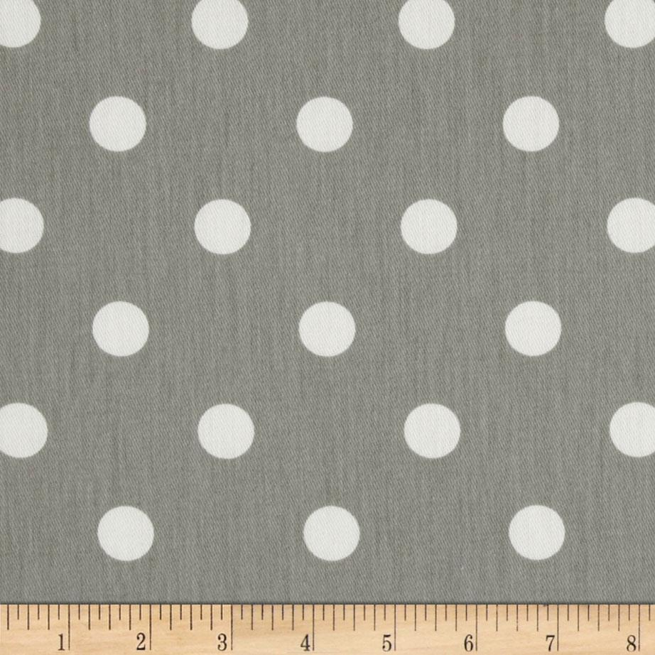 Premier prints polka dots twill storm discount designer for Grey baby fabric