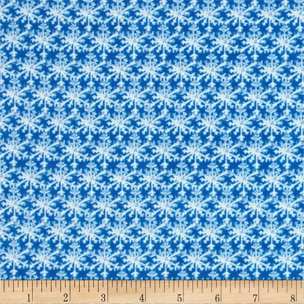 Winter Magic Flannel Snowflakes Royal