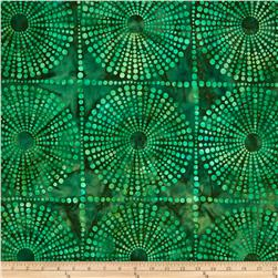 Artisan Batiks Bubbles Large Bubble Geo Island Green