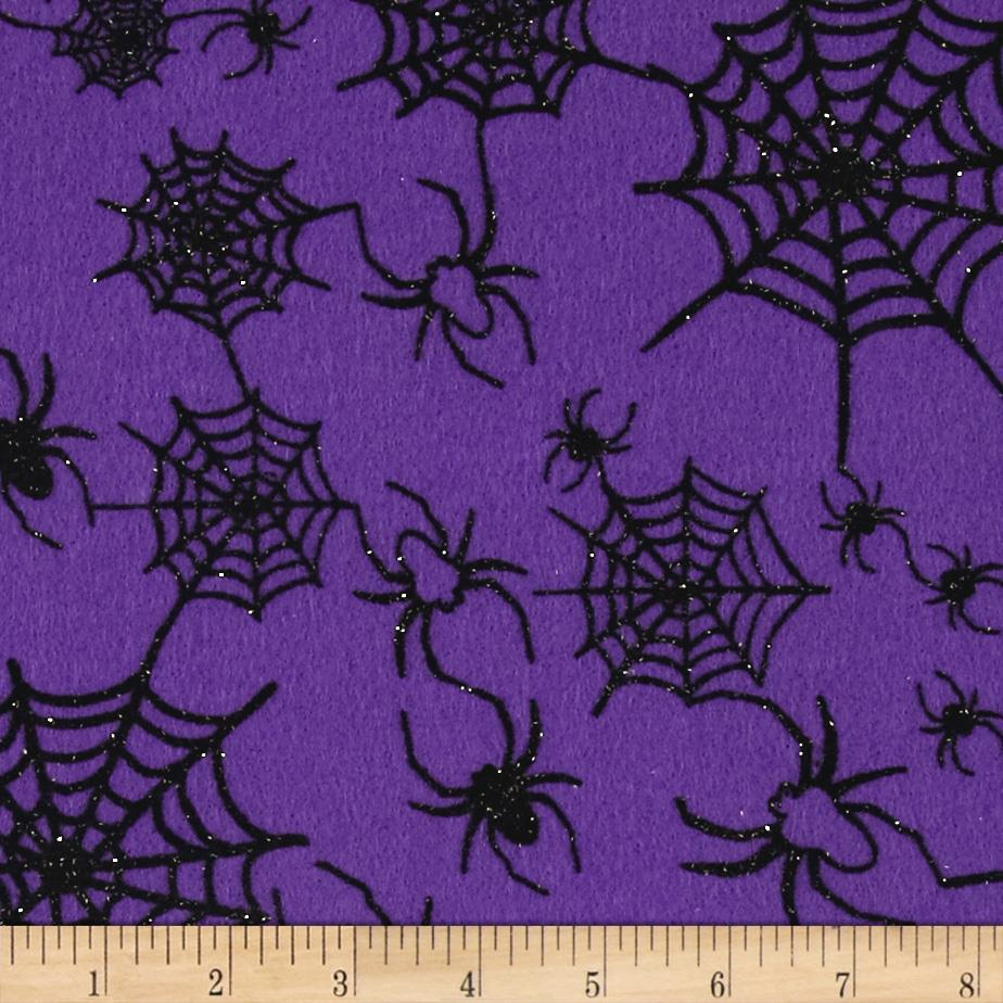 "Halloween Felt 9x 12"" Craft Cut Spiderweb Orchid"