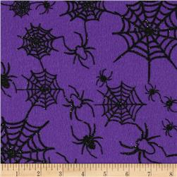Halloween Felt 9x 12'' Craft Cut Spiderweb Orchid