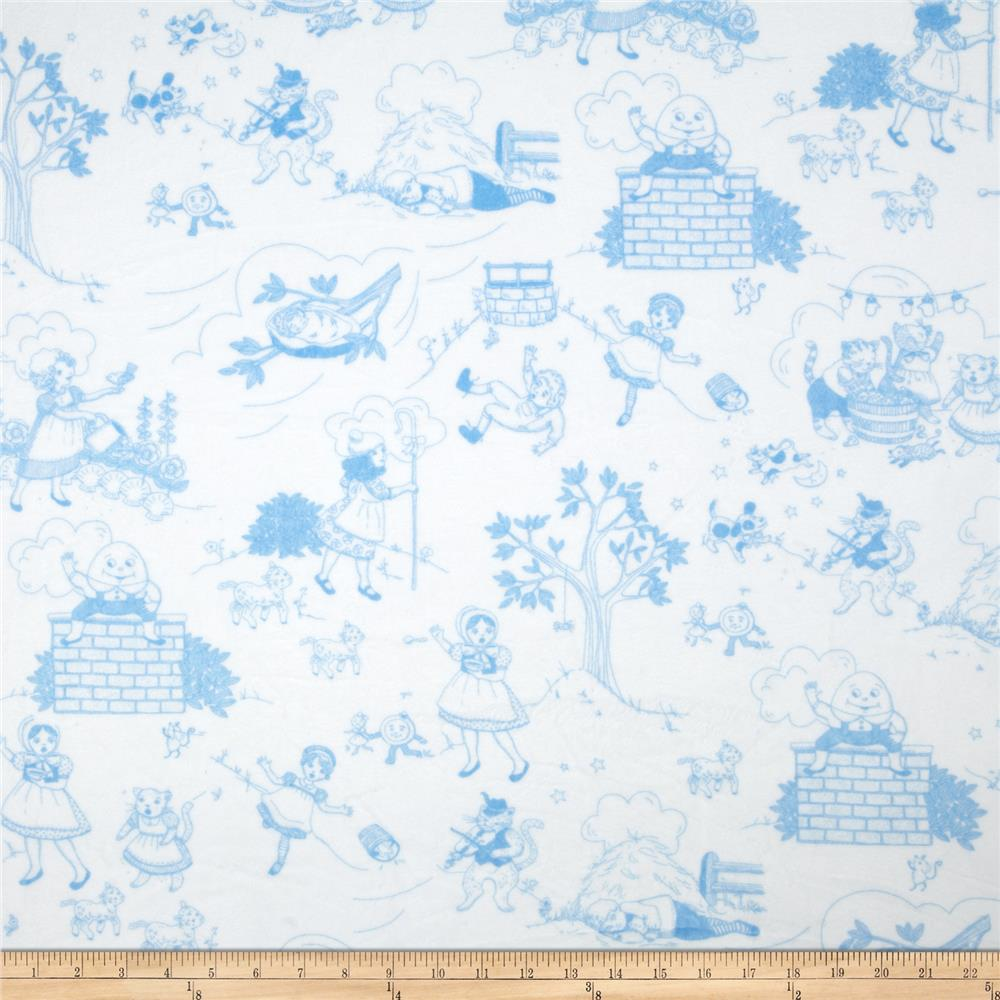Minky Toile Cuddle White/Sky