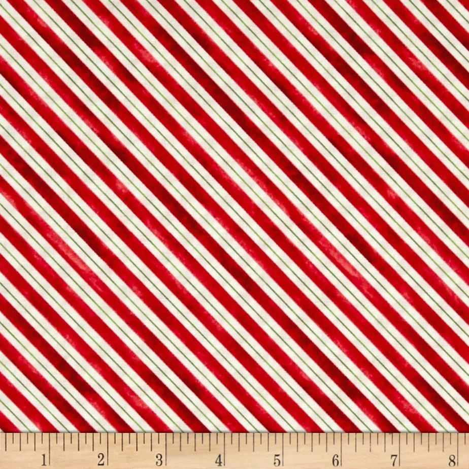 Home For The Holidays Stripe Red