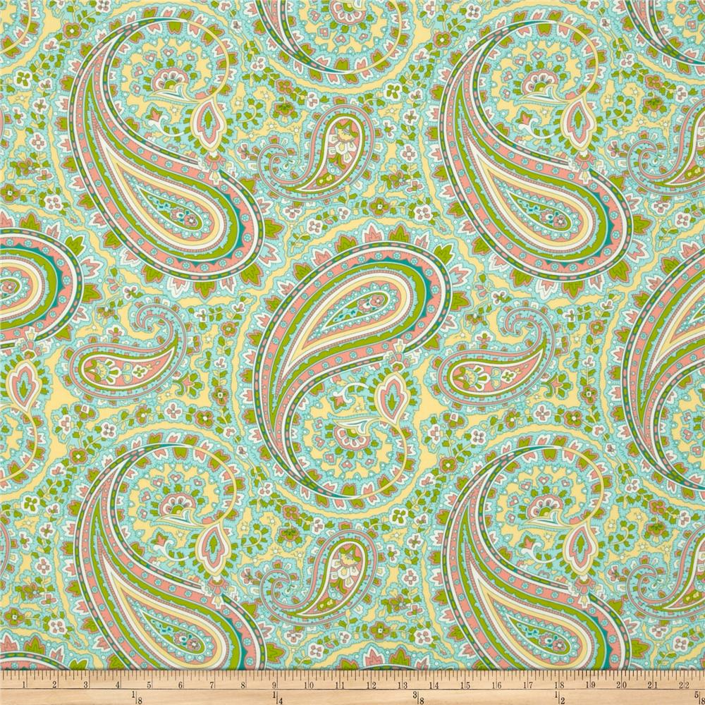 April Cornell Glorious Garden Patient Paisley Aqua