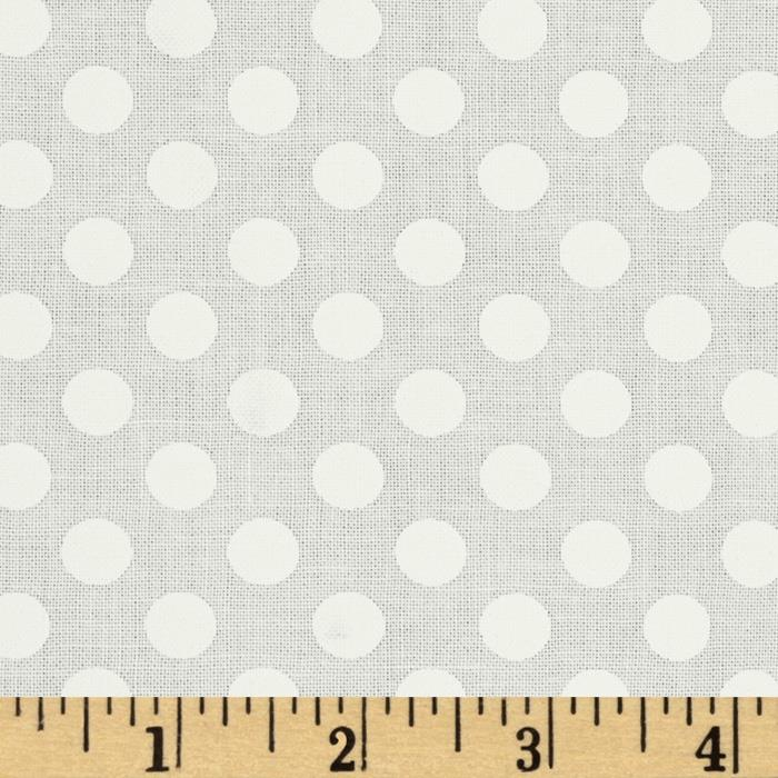 Kaufman Spot On Medium Dot Ivory