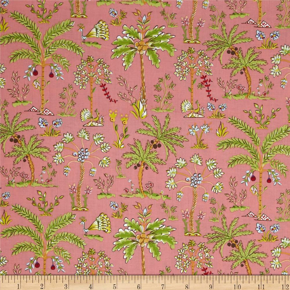 Haute Girls Palm Trees Pink Discount Designer Fabric