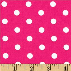 Pimatex Basics Dots Hot Pink Fabric