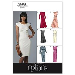 Vogue Misses' Dress Pattern V8685 Size AA0