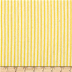 44'' Ticking Stripe Yellow Fabric