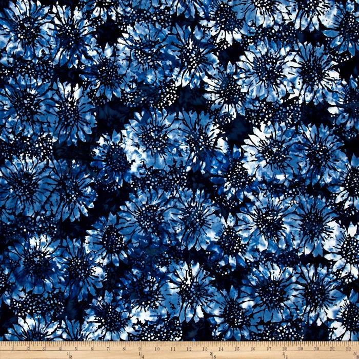 Island Batik Sunflower Light Blue/Dark Blue