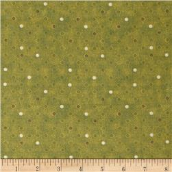 Coffee House Small Dot Light Olive
