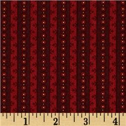 Winter Blessings Wallpaper Stripe Red