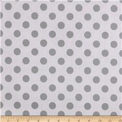 Riley Blake Laminate Medium Dots Tone on Tone Gray