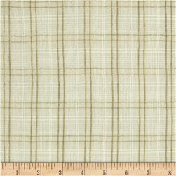 Ranchero Cotton Blend Gauze Plaid Natural/Cream