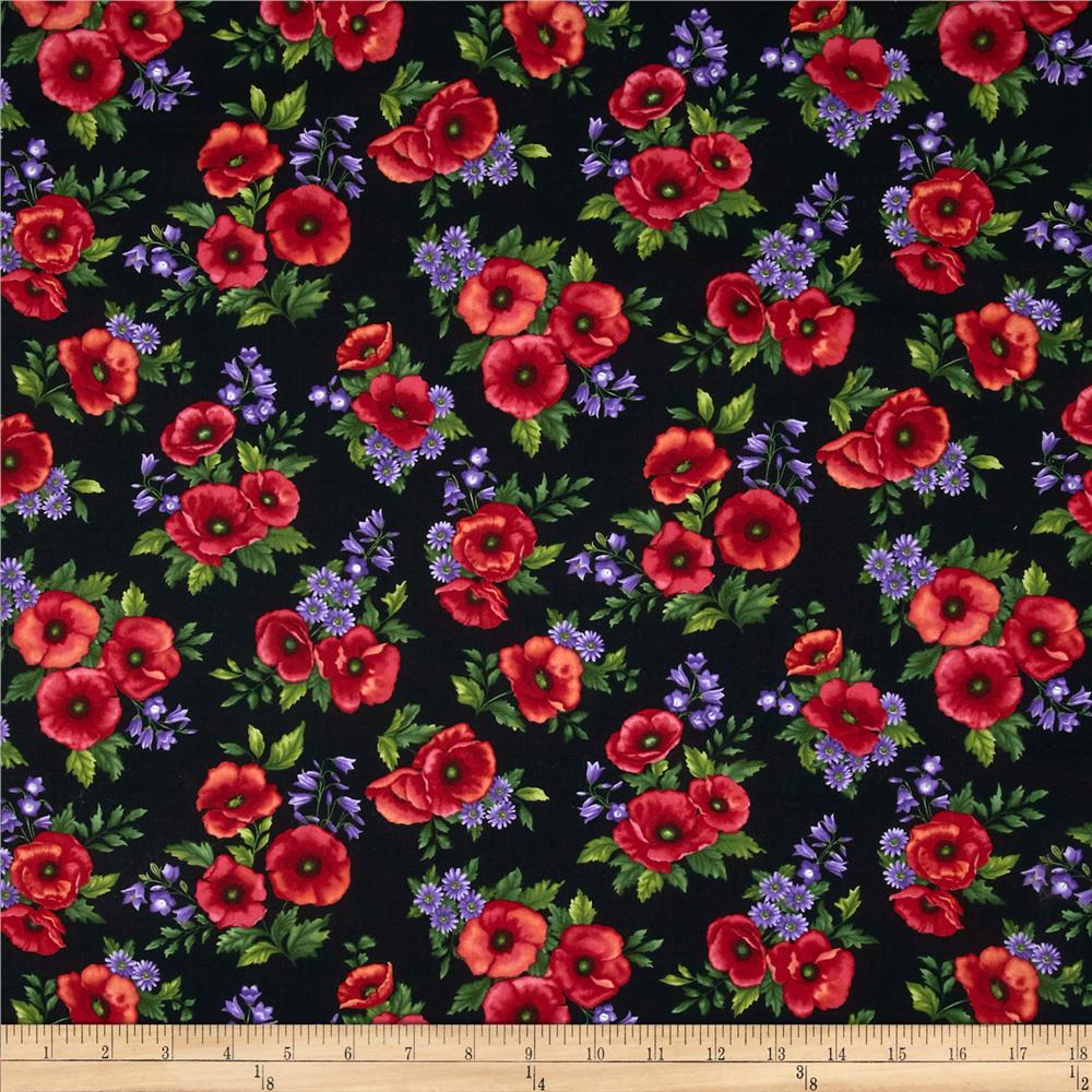 Poppy Panache Bouquet Black/Multi