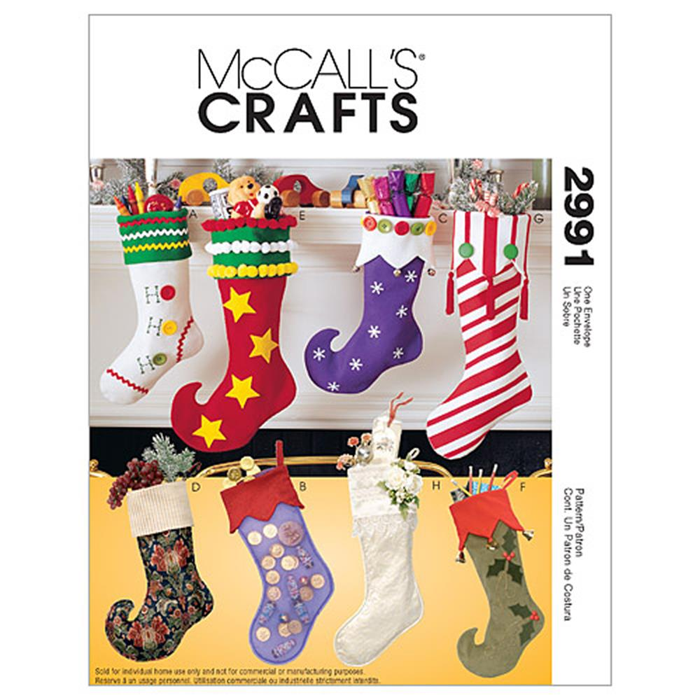 McCall's Christmas Stockings Pattern M2991 Size OSZ