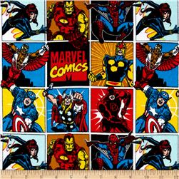 Marvel Comics Collection #2 Comic Flannel Blocks Multi