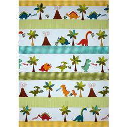 Michael Miller Dino Roars Dino Trek Repeating Stripe Multi
