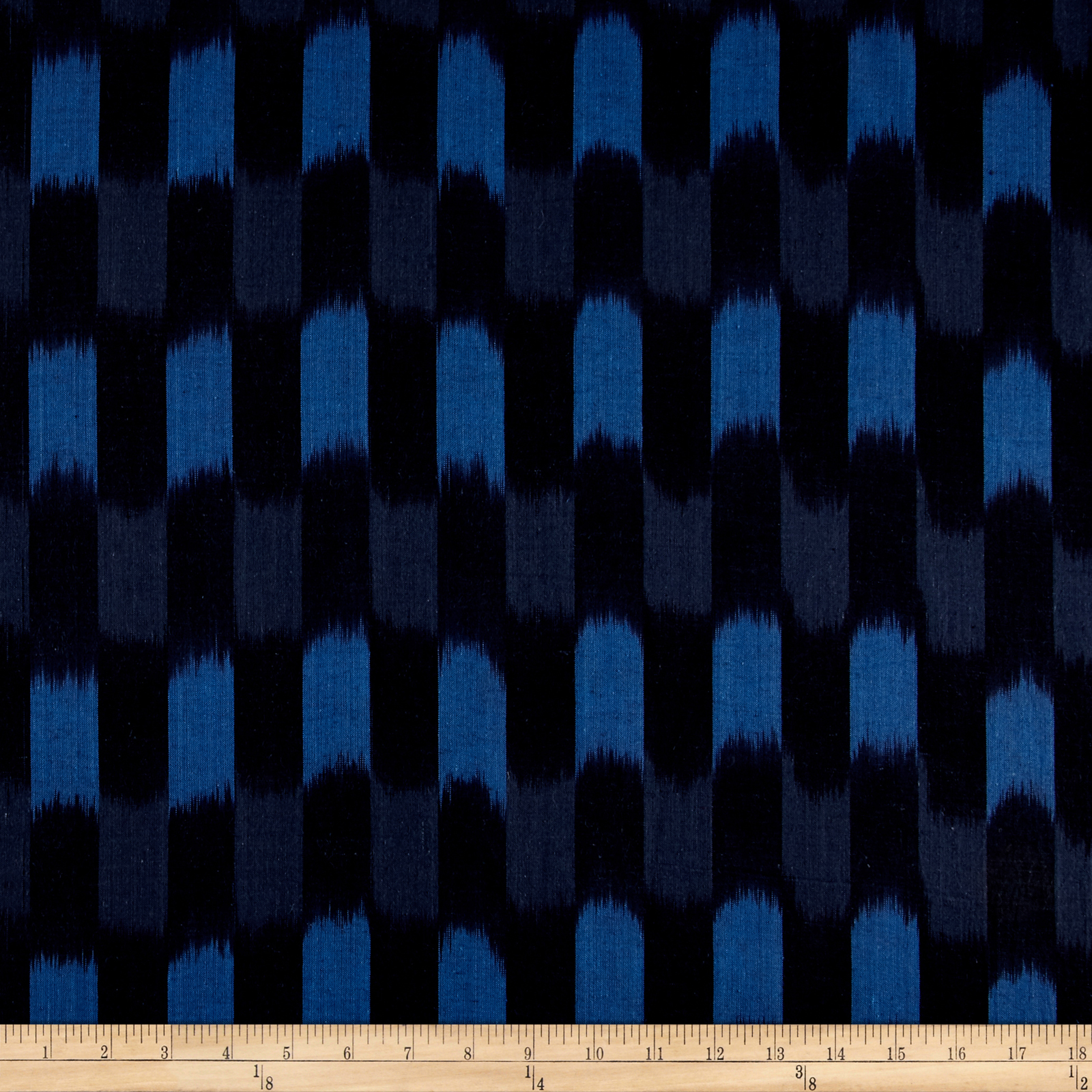 Dream Weaves Woven Ikat Check Blue Fabric Style 451965 by Andover & Makower in USA